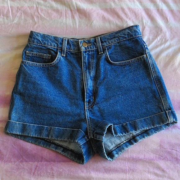 American Apparel High-waisted denim shorts